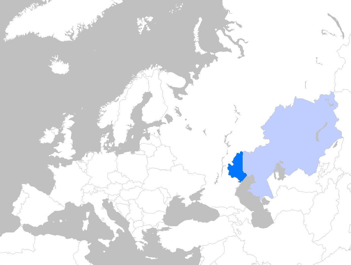 Karte Europa Asien.Kasachstan Europa Karte Landkarte Von Kasachstan In Europa